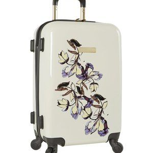 "Cream Floral 20"" Maybel Spinner Carry-On"